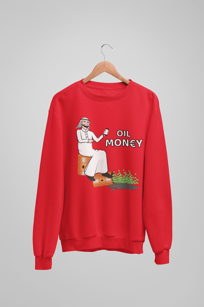 'Oil Money' Mens Tradr. Sweatshirt - Sweatshirts - TRADR. Clothing