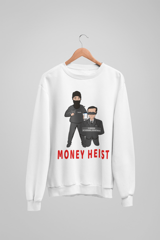 'Money Heist' Mens Tradr. Sweatshirt - Sweatshirts - TRADR. Clothing