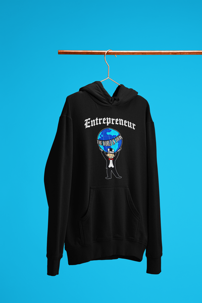 'Entrepreneur - The world is yours' Mens Tradr. Hoody