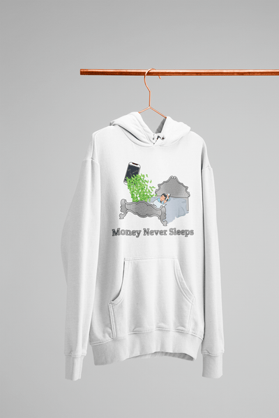 'Money Never Sleeps' Mens Tradr. Hoody - Hoody's - TRADR. Clothing