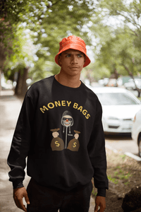 'Money Bags' Mens Tradr. Sweatshirt - Sweatshirts - TRADR. Clothing