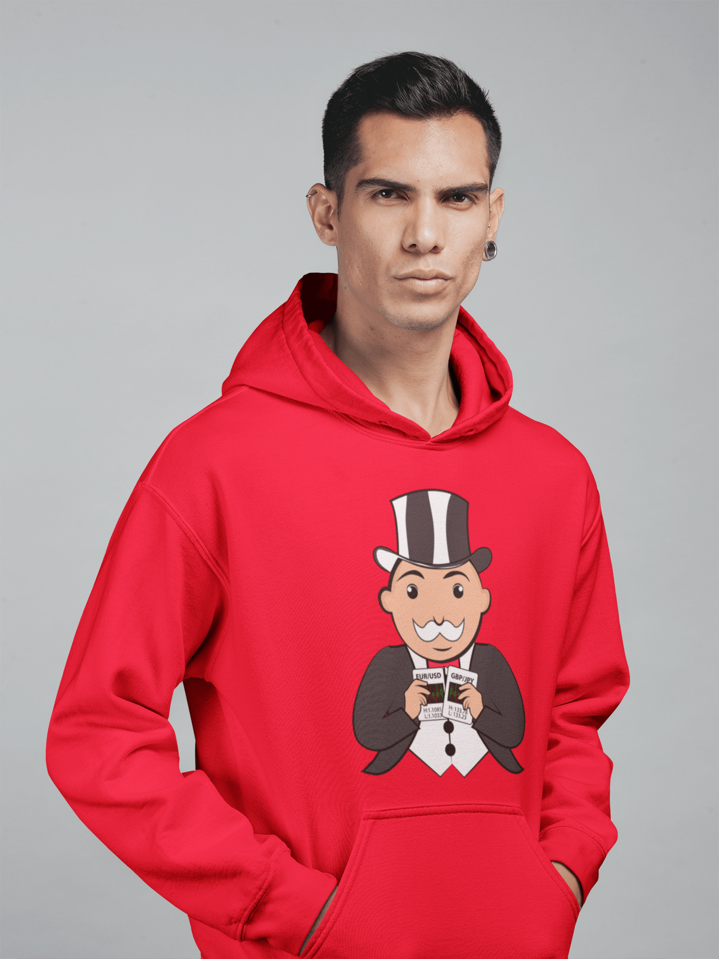 Forex Monopoly 'Currency Cards' Mens Tradr. Hoody - Hoody's - TRADR. Clothing