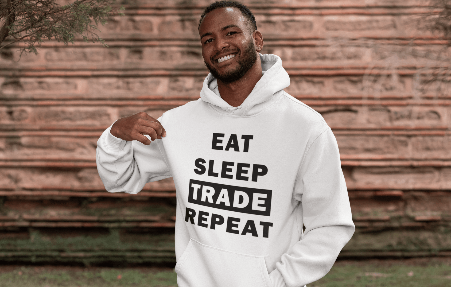 Forex Life 'Eat Sleep Trade Repeat' Mens Tradr. Hoody - Hoody's - TRADR. Clothing