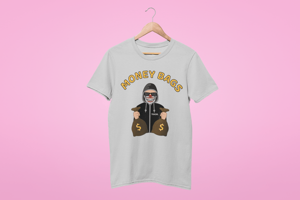'Money Bags' Womens Tradr. T-Shirt Dress - T-Shirt Dress - TRADR. Clothing