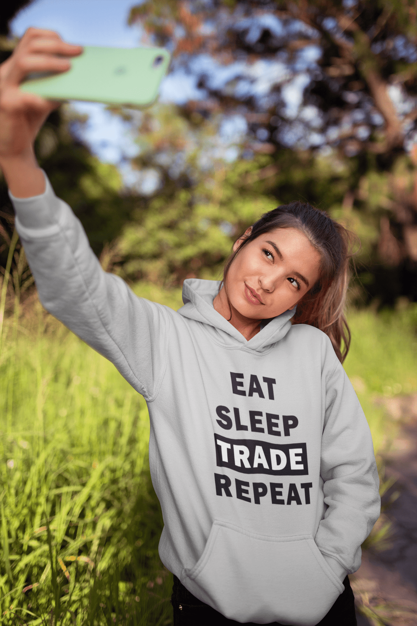 Forex Life 'Eat Sleep Trade Repeat' Womens Tradr. Hoody - Hoody's - TRADR. Clothing