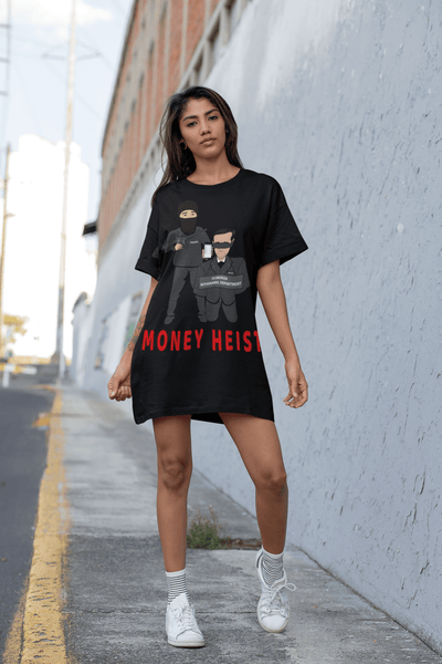 'Money Heist' Womens Tradr. T-Shirt Dress - T-Shirt Dress - TRADR. Clothing