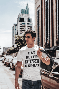 Forex Life 'Eat Sleep Trade Repeat' Mens Tradr. T-Shirt - T-Shirts - TRADR. Clothing