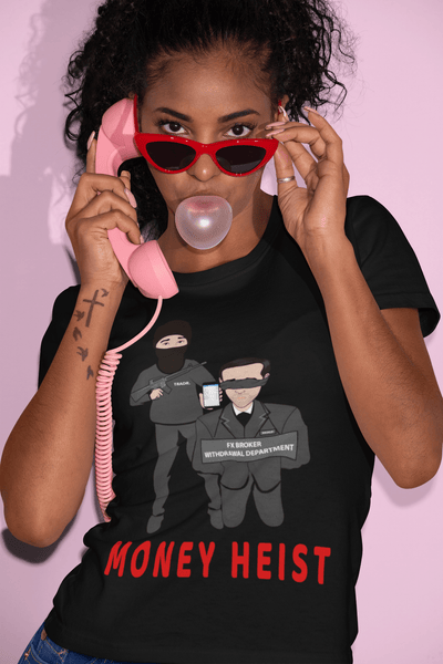 'Money Heist' Womens Tradr. T-Shirt - T-Shirts - TRADR. Clothing