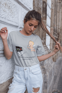 'I Don't Catch Feelings I Catch Pips' Womens Tradr. T-Shirt - T-Shirts - TRADR. Clothing