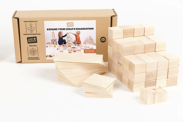 Just Blocks Houten Blokken Medium Pack 74 stuks