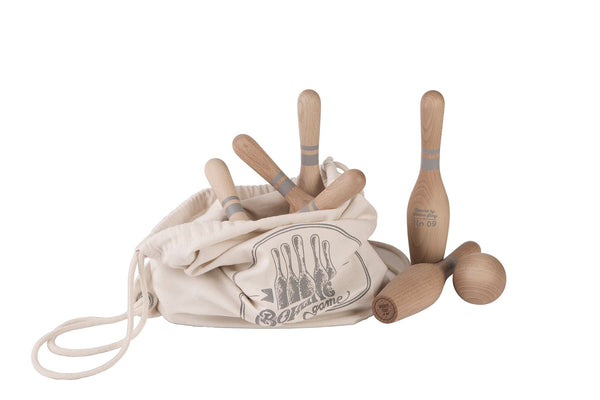 Wooden Story Houten Bowling Set Natural