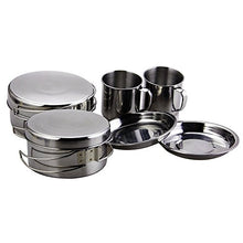 Load image into Gallery viewer, BeGrit Outdoor Camping Hiking Backpacking Picnic Cookware Cooking Set (8pcs/set, 410 Stainless Steel)