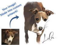 Digital Copy Only - Custom Pet Portrait, created from your image
