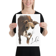 Load image into Gallery viewer, Unframed Custom Watercolor Pet Portrait - created from your image.  FREE SHIPPING WORLDWIDE.
