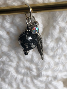 Black and Silver with Feather
