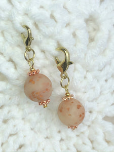 Opaque Rose Gold Bead