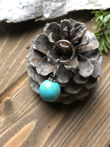 Teal and Silver Ornament