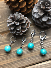Load image into Gallery viewer, Teal and Silver Ornament