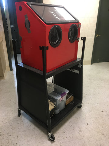 Benchtop Blast Cabinet for preparing powdered dyes