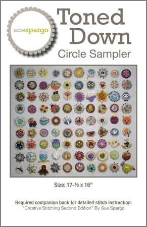 Circle Sampler Pattern by Sue Spargo - Amanda Baxter Studio Tencel Yarn
