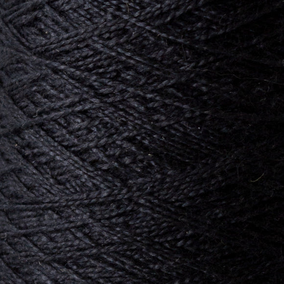 Black Tencel 1 lb cone - Amanda Baxter Studio Tencel Yarn