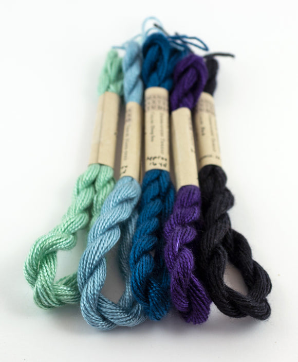 Blue Palette Embroidery Thread - Amanda Baxter Studio Tencel Yarn