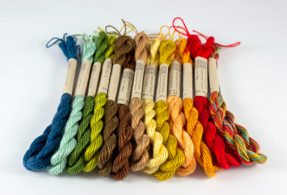 Fall Palette Embroidery Thread - Amanda Baxter Studio Tencel Yarn