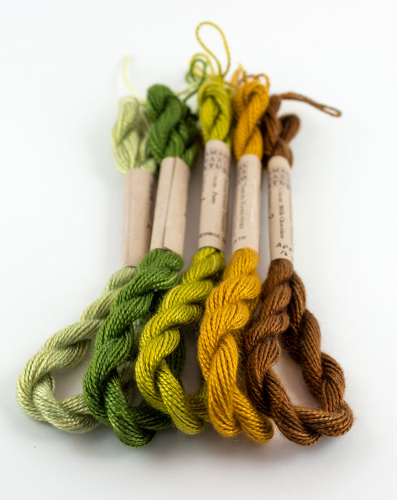 Green Palette Embroidery Thread - Amanda Baxter Studio Tencel Yarn