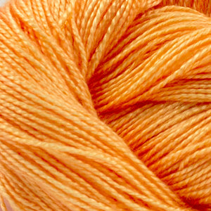 Orange Sherbet 4 oz. skein - Amanda Baxter Studio Tencel Yarn