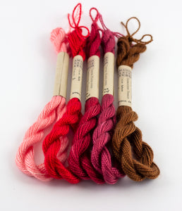 Red Palette Embroidery Thread - Amanda Baxter Studio Tencel Yarn