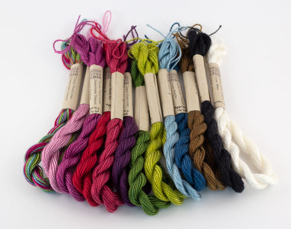 Spring Palette Embroidery Thread - Amanda Baxter Studio Tencel Yarn