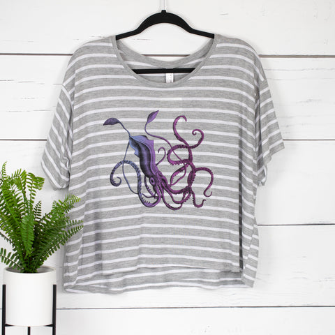 Giant Squid Boxy Crop Tee