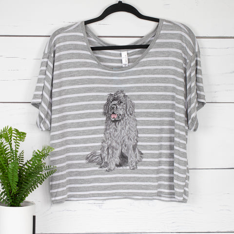 Newfoundland Dog Boxy Crop Tee