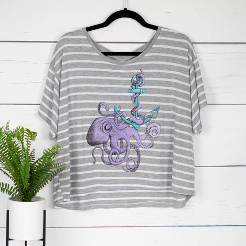 Octopus Anchor Boxy Crop Tee