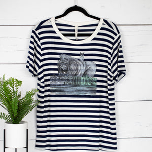 Pinki's Day Out Striped Tee