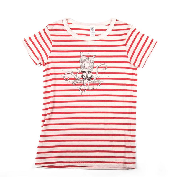 Baby Squid Striped Women's Tee