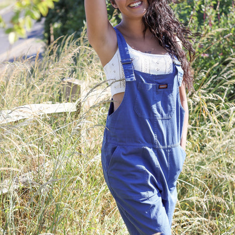 Cobalt Baggy Dungarees by Run & Fly