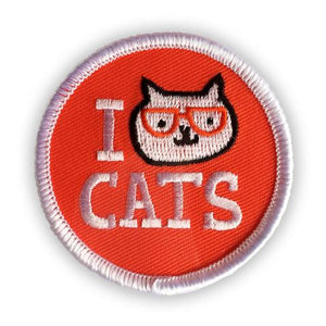 I Cat Cats Patch by Badge Bomb