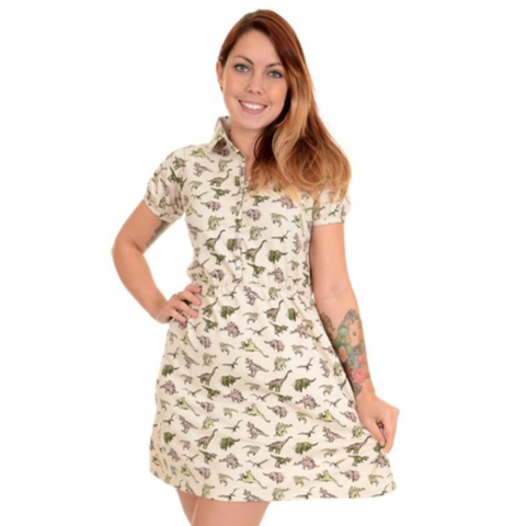 Dinosaur T Shirt Skater Dress by Run and Fly