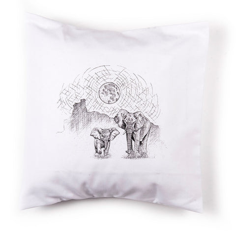 Elephants in Newfoundland Pillow