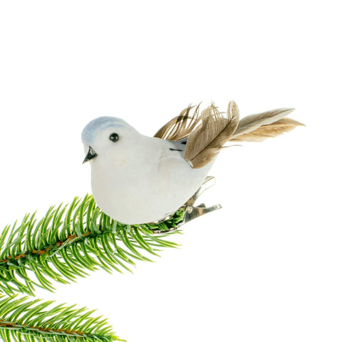 Bird Clip Ornament - White