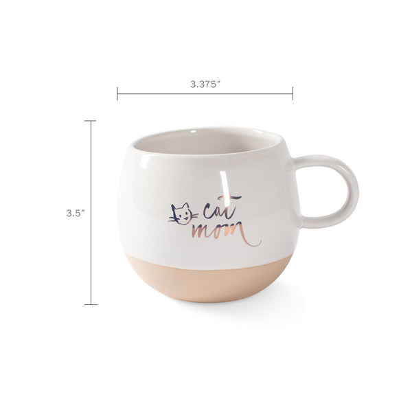 Cat Mom Round Mug by Fringe Studio