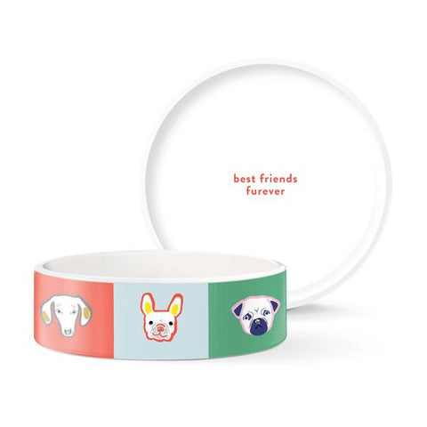 BFF (Best Friends Furever) Dog Bowl by Fringe Studio