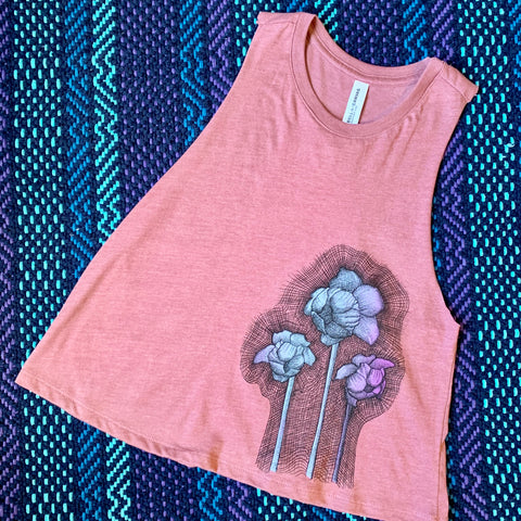Pitcher Plant Cropped Racerback Tank