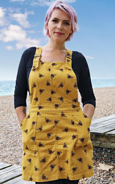 Bee Twill Pinafore by Run and Fly