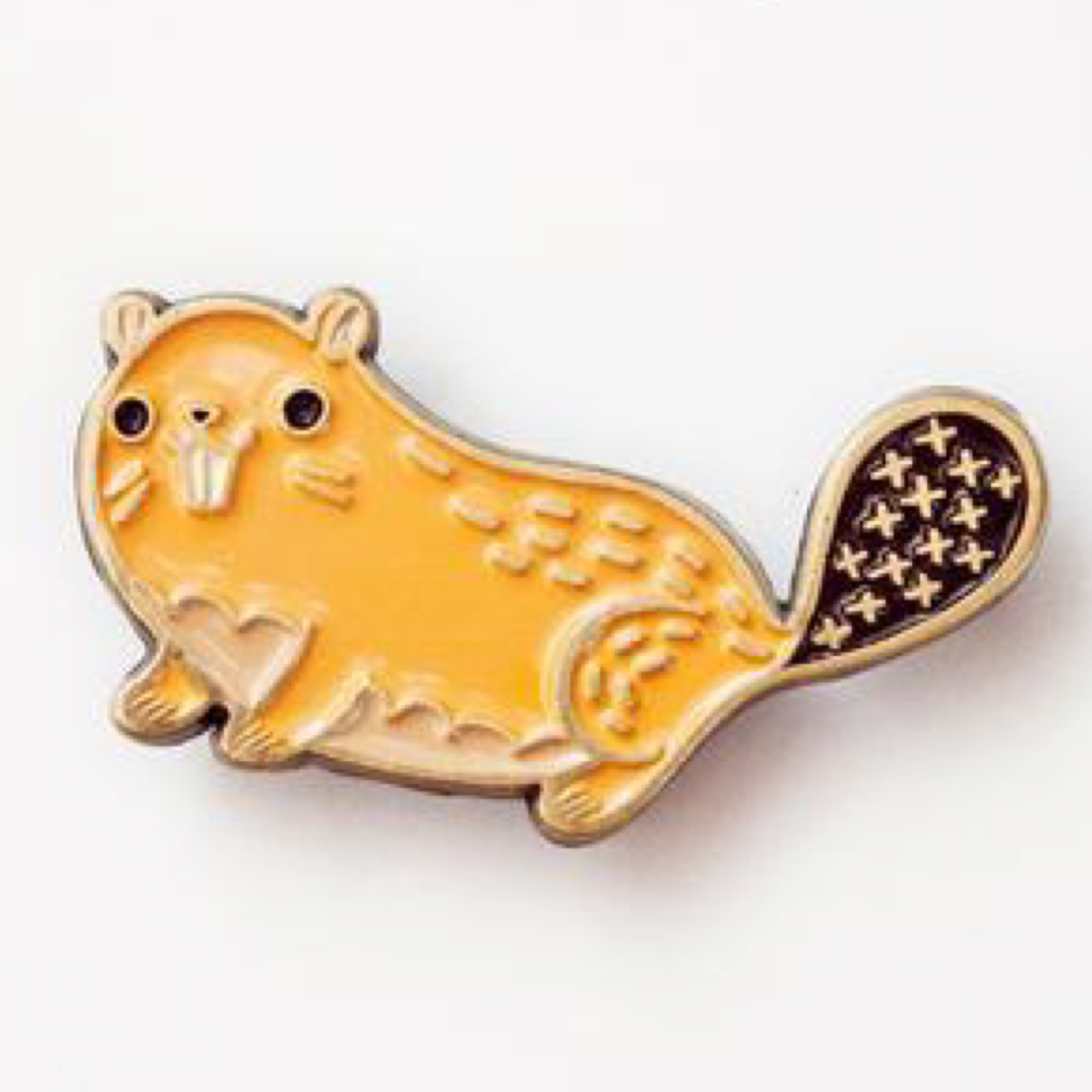 Beaver Pin by Boygirlparty