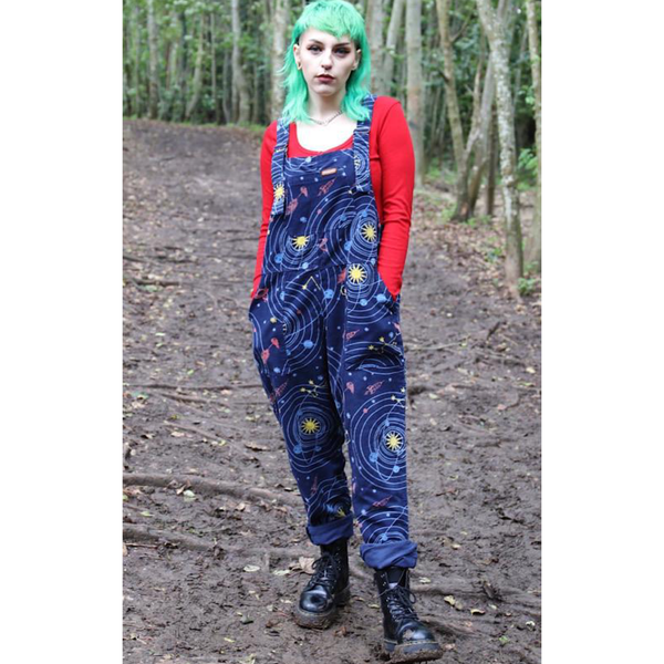 Out of this World Corduroy Dungarees by Run and Fly