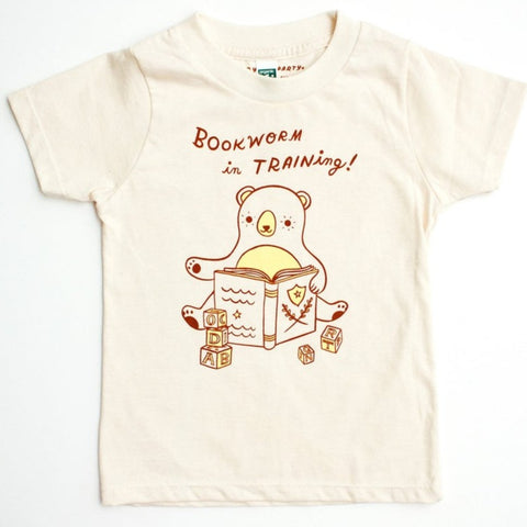 Bookworm In Training Toddler Tee by Boygirlparty