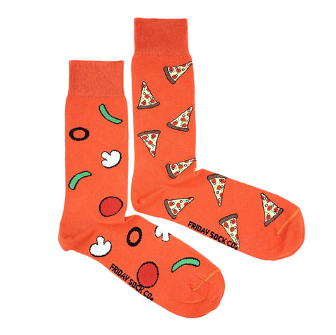 Orange Pizza & Toppings by Friday Sock Co.