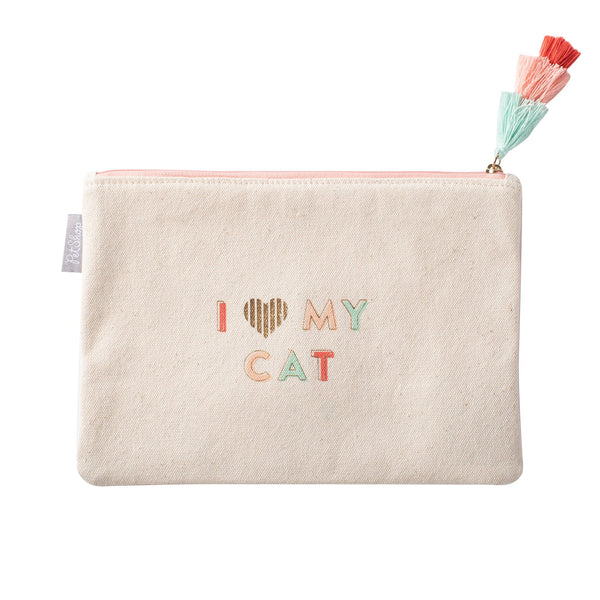 Love My Cat Pouch by Fringe Studio